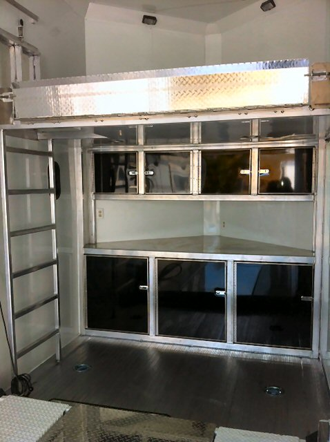 cabinets for enclosed trailers shetron manufacturing custom built 2 gooseneck trailers 13121